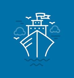 Cruise Ship vector image