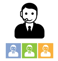 Customer support service - call center assistant vector