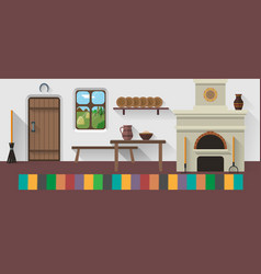 retro country house vector image