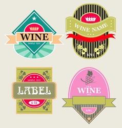 set of wine label vector image