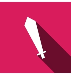 sword icon with long shadow vector image