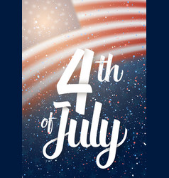 Usa the day of independence poster vector