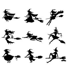witchs set vector image vector image