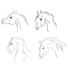 Arab heads sketch vector image vector image