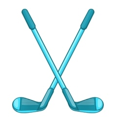 Golf clubs icon cartoon style vector image