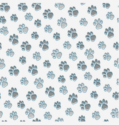 pet paws seamless pattern vector image