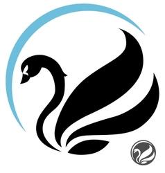 stylized swan vector image