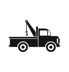 Car towing truck icon in flat style icon vector image