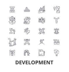 development business technology real estate vector image