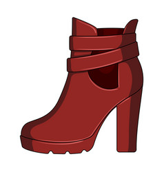 high women red shoes for everyday wear different vector image vector image