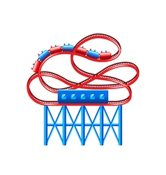 Roller coaster isolated on white vector image