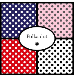 Set of polka dot patterns vector image