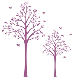 Tree with Birds Wall Decal vector image vector image