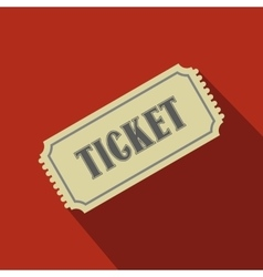 Vintage ticket flat icon vector image