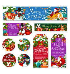 christmas decoration holiday posters tags vector image
