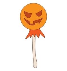 Halloween scarecrow icon in cartoon style vector image