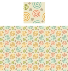Spirals Pattern Swatch vector image