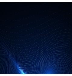 3D illuminated abstract digital wavy background vector image