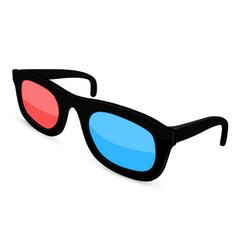 3d movie glasses colored spectacles for movie vector image