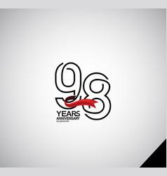 98 years anniversary logotype simple design vector