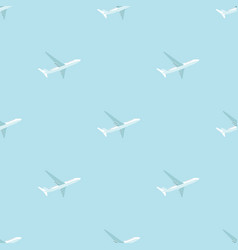 Abstract airplane transportation seamless pattern vector
