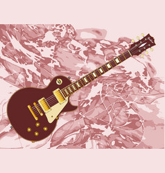 Abstract background electric guitar vector
