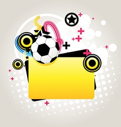 Abstract football vector image