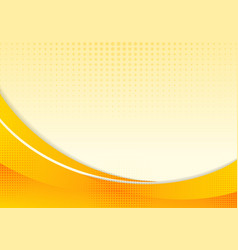 Abstract yellow waves or curved professional vector