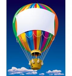 Air balloon in the sky vector