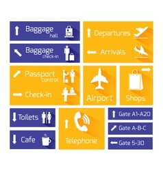 Airport Navigation Infographic Design Elements vector