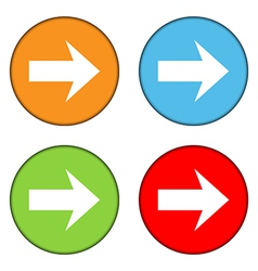 Arrow sign button set vector