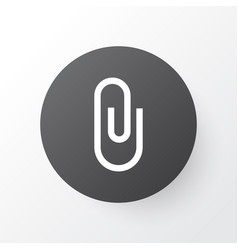 attach icon symbol premium quality isolated pin vector image