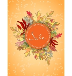 Autumn sales banner vector
