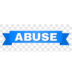 Blue stripe with abuse title vector