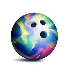 Bowling ball sport game symbol vector