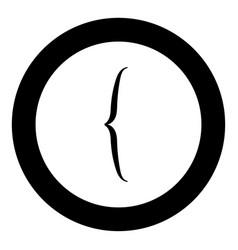 Bracket icon black color in circle vector