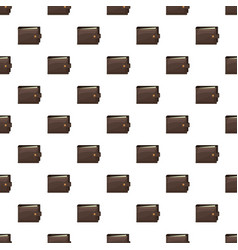 Brown wallet pattern vector