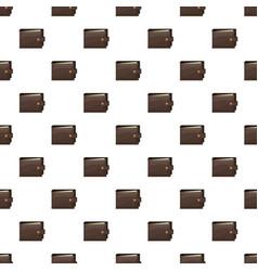 brown wallet pattern vector image