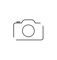 camera - icon vector image