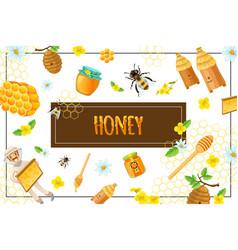 cartoon organic honey concept vector image