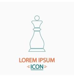 Chess queen computer symbol vector