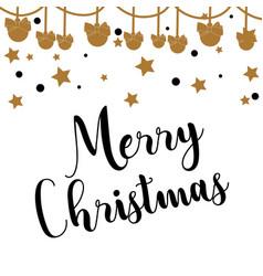 christmas star and decoration ball vector image