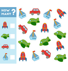 counting game for children count how many vector image