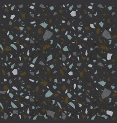 dark terrazzo texture stone flooring background vector image