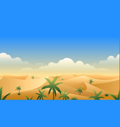 Desert panorama horizontal seamless pattern vector