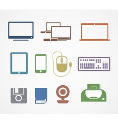 Digital stuff icons vector
