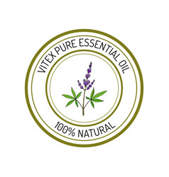 Essential oil label vector