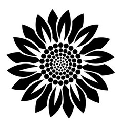 flower plant icon simple style vector image
