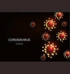 futuristic coronavirus 2019-ncov covid-19 web vector image