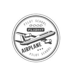 Good Flight Club Emblem Design vector image